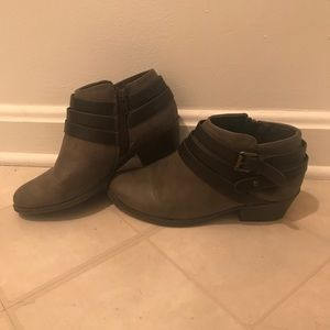 Shoes - Grey Brown Booties